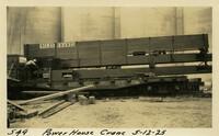 Lower Baker River dam construction 1925-05-12 Power House Crane