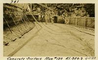 Lower Baker River dam construction 1925-06-11 Concrete Surface Run #130 El.350.3