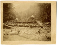 Mt. Baker - Prospector's pony bridge over Nooksack River