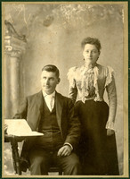 Man and woman in studio portrait