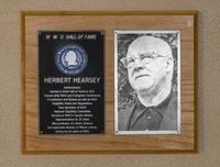 Hall of Fame Plaque: Herbert Hearsey, Administrator, Class of 1982