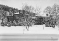 1955 Old Main in Snow