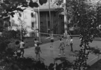 1970 Students Playing Volleyball
