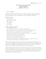 WWU Board of Trustees Minutes: 2015-06-11