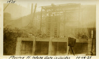 Lower Baker River dam construction 1925-10-14 Placing N. Intake Gates in Guides