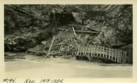 Lower Baker River dam construction 1924-11-19 Damaged railroad trestle