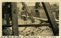 Lower Baker River dam construction 1925-05-15 Rock Surface P.H. Foundation S. End