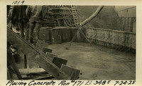 Lower Baker River dam construction 1925-07-24 Placing Concrete Run #171 El.3485