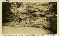 Lower Baker River dam construction 1925-08-12 Rock Surface Run #186 E. Side El.321