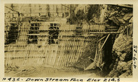 Lower Baker River dam construction 1925-04-09 Downstream face Elev 214.5 - Abatment gupper?