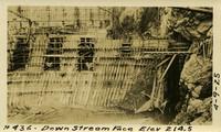 Lower Baker River dam construction 1925-04-09 Downstream face Elev 214.5 - Abatment gupper?