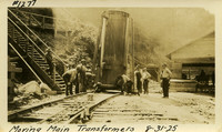 Lower Baker River dam construction 1925-08-31 Moving Main Transformers
