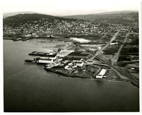 Aerial view taken from the Southwest of Pacific American Fisheries complex in Fairhaven, Washington
