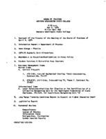 WWU Board minutes 1974 May