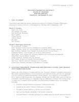WWU Board of Trustees Minutes: 2015-12-10