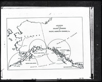 Map of Alaska, British Columbia, and north Puget Sound showing the location of the salmon canneries of Pacific American Fisheries