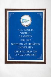 General Plaque: All-Sports Women's Champion, Athletic Director Lynda Goodrich, 2011/2012