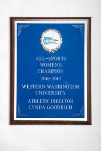 General Plaque: All-Sports Women's Champion, Athletic Director Lynda Goodrich, 2011/2012
