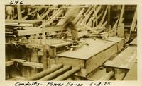 Lower Baker River dam construction 1925-06-08 Conduits Power House