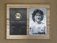 Hall of Fame Plaque: Marilyn Thibodeau, Cross-Country Running, Track and Field, Class of 2004