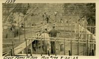 Lower Baker River dam construction 1925-08-20 Crest Forms W. Side Run #194