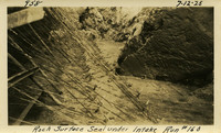 Lower Baker River dam construction 1925-07-12 Rock Surface Seal under Intake Run #160