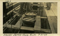 Lower Baker River dam construction 1925-07-21 Storage Battery Room Vents