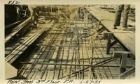 Lower Baker River dam construction 1925-06-27 Reinf Steel 3rd Floor P.H.