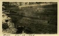 Lower Baker River dam construction 1924-10-10 Inside form work work