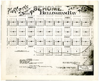 Image of plat for town of Sehome, Washington territory, recorded 1858