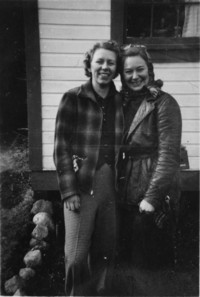 Edith Meenk and Friend