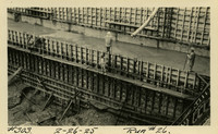 Lower Baker River dam construction 1925-02-26 Run #26 - Horizontal and vertical drains filled in with concrete