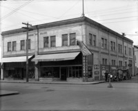 View of Johnson Building on the northest corner of 1st St. and Pine St. in downtown Mt. Vernon, WA