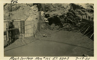 Lower Baker River dam construction 1925-07-19 Rock Surface Run #166 El.330.3