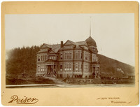 Exterior of grand, four-story Sehome School building