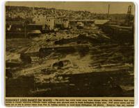 """Runaway Logs Dance on Waves"" (copy of newspaper article)"