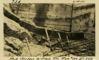 Lower Baker River dam construction 1925-06-13 Rock Surface & Drain Tile Run #132 El.258