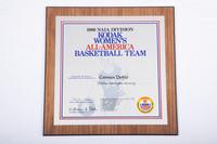 Basketball (Women's) Plaque: Kodak Women's All-America Basketball Team selection, Carmen Dolfo, 1986
