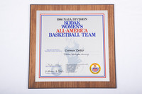 Basketball (Women's) Plaque: Kodak Women's All-America Basketball Team selection, Carmen Dolfo, 1986