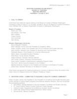 WWU Board of Trustees Meeting Records 2015 October