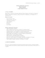 WWU Board of Trustees Minutes: 2018-10-12