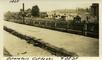 Lower Baker River dam construction 1925-09-28 Operator's Cottages (view looking east from East Main Street)