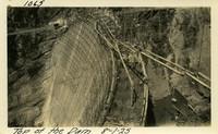 Lower Baker River dam construction 1925-08-01 Top of the Dam