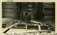 Lower Baker River dam construction 1925-06-04 Placing Reinf Steel W. Wall Power House