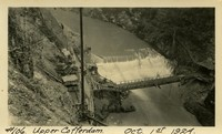 Lower Baker River dam construction 1924-10-01 Upper Cofferdam