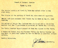 AS Board Minutes 1938-04