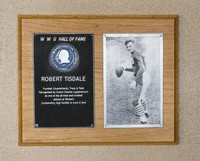 Hall of Fame Plaque: Bob Tisdale, Football, Class of 1968