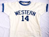Basketball (Men's) Jersey: #14, Mike Franza, unfolded, 1973