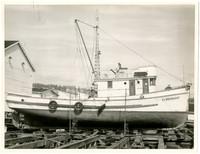 Wooden boat named