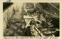 Lower Baker River dam construction 1925-08-02 Preparing for Concrete Run #189 El.3845